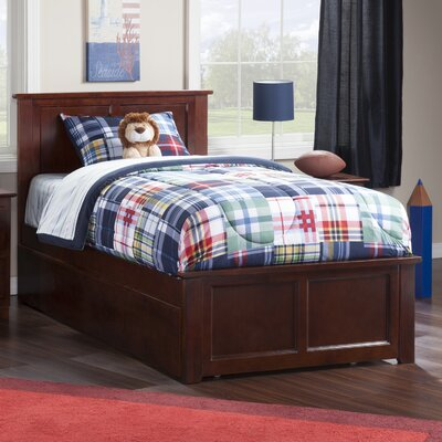 Alanna Twin Platform Bed with Trundle Color: Walnut