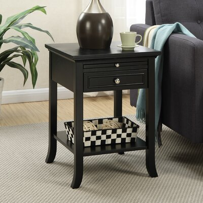 American Heritage End Table Finish: Black