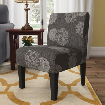 Slipper Chair Upholstery: Grey Sunflower