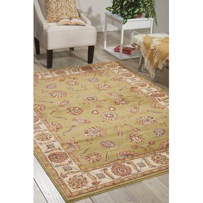 Winthrop Green/Red Area Rug Rug Size: Round 710