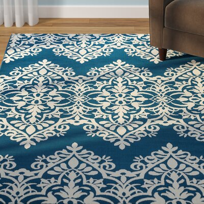 Pearl Blue Indoor/Outdoor Area Rug Rug Size: Rectangle 53 x 77