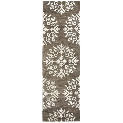 Bluebell Hand-Tufted Brown/Ivory Area Rug Rug Size: Runner 26 x 8