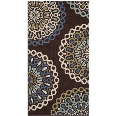 Chambers Brown/Blue Indoor/Outdoor Area Rug