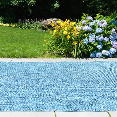 Hawkins Blue Wave Indoor/Outdoor Area Rug Rug Size: Square 4