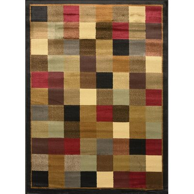 Eugenia Checked Area Rug Rug Size: 37 x 52