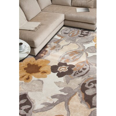 Willette Ivory/Yellow Floral Area Rug Rug Size: 8 x 10