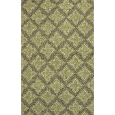 Keely Green/Gray Moroccan Indoor/Outdoor Area Rug Rug Size: 2 x 3