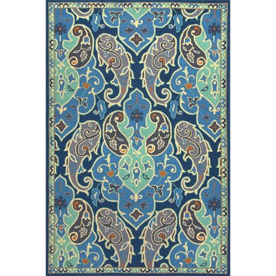 Breann Blue/Ivory Floral Indoor/Outdoor Area Rug Rug Size: 36 x 56
