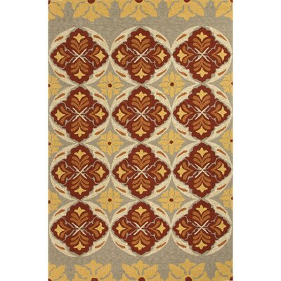 Breann Tribal Red/Yellow Indoor/Outdoor Area Rug Rug Size: 2 x 3