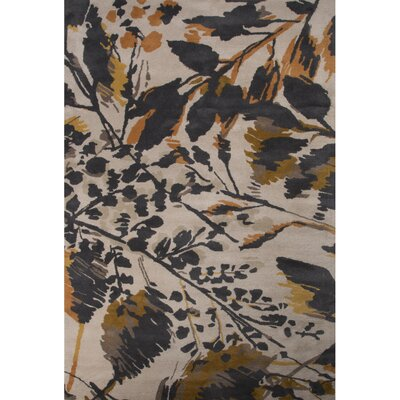 Sedgemoor Gray/Orange Floral Area Rug Rug Size: 2 x 3