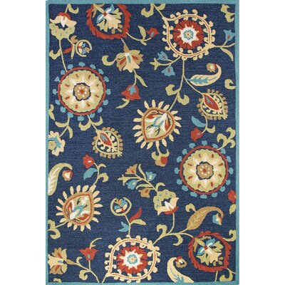 Sefton Hand-Tufted Blue/Yellow Area Rug Rug Size: 5 x 76