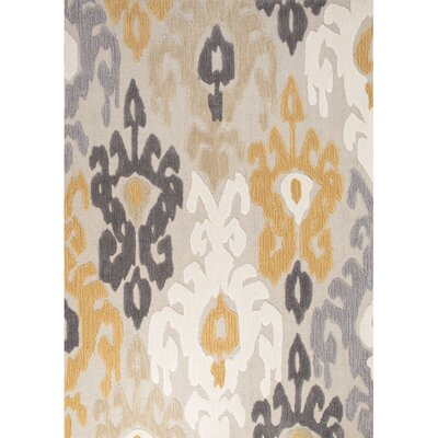 Sowams Hand-Tufted Gray Area Rug Rug Size: 5 x 76