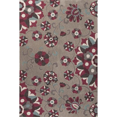 Sefton Hand-Tufted Gray/Purple Area Rug Rug Size: 5 x 76