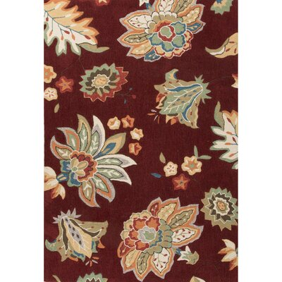 Bellbrook Hand-Tufted Red/Yellow Area Rug Rug Size: 2 x 3