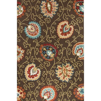 Sefton Hand-Tufted Brown/Orange Area Rug Rug Size: 5 x 76
