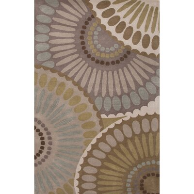 Roswell Wool Hand Tufted Gray/Ivory Area Rug Rug Size: 5' x 8'
