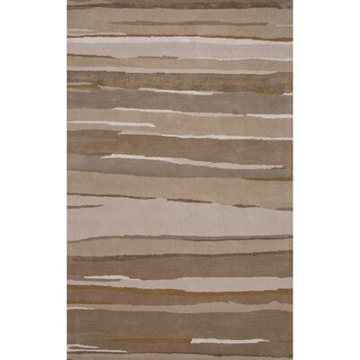 Rothwell Wool and Art Silk Hand Tufted Taupe/Brown Area Rug Rug Size: 5' x 8'