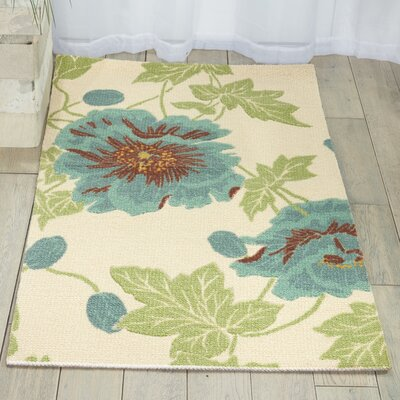 Sharan Ivory/Blue Area Rug