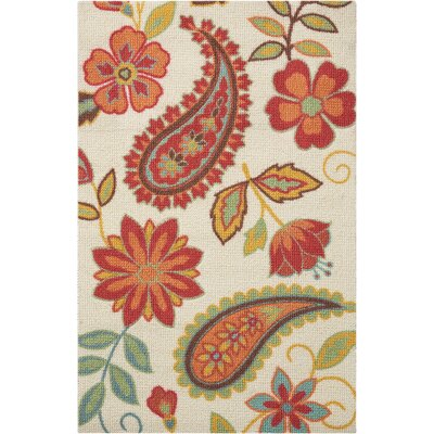 Sharan Ivory/Red Area Rug