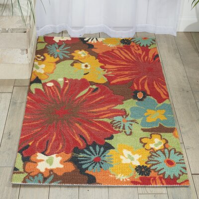 Sharan Floral Red Area Rug