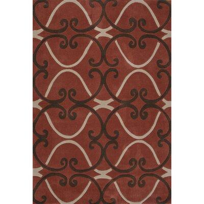 Chaya Polyester Hand Tufted Tandoori Spice Area Rug Rug Size: 76 x 96