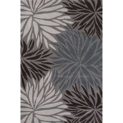 Marisela Polyester Hand Tufted Gray Area Rug Rug Size: 5 x 76
