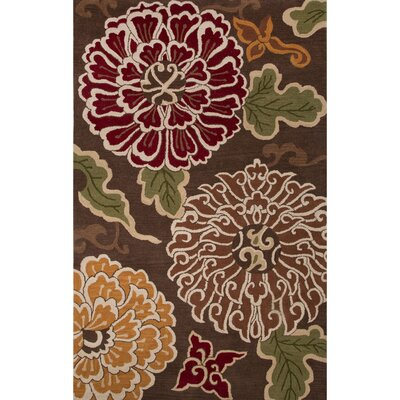 Culver Wool Hand Tufted Brown Area Rug Rug Size: 8 x 10
