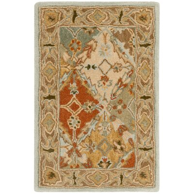 Salamanca Hand-Tufted Light Blue/Light Brown Area Rug COLOR: Light Blue / Light Brown, Rug Size: Runner 23 x 14