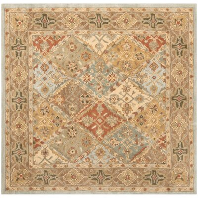 Salamanca Hand-Tufted Light Blue/Light Brown Area Rug COLOR: Light Blue / Light Brown, Rug Size: Square 6