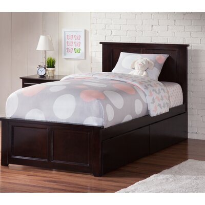Marjorie Platform Bed with Underbed Storage Finish: Espresso, Size: Twin XL