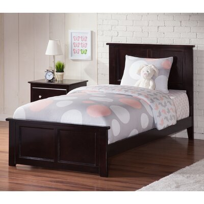 Alanna Traditional Panel Bed Finish: Espresso, Size: Twin