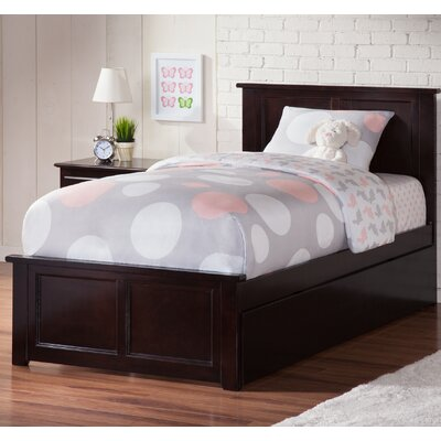 Alanna Twin Platform Bed with Trundle Finish: Espresso