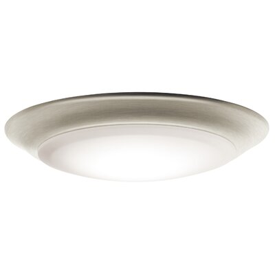 Ann 1-Light LED Flush Mount Finish: Brushed Nickel