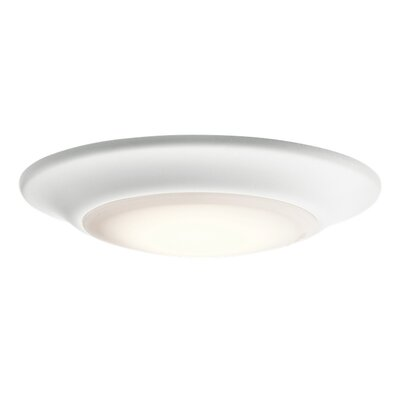 Ann 1-Light LED Flush Mount Finish: White