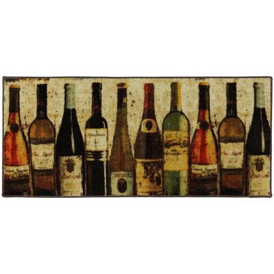 Buren Wine Row Brown/Green Area Rug Rug Size: 18 x 39
