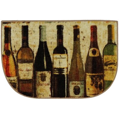 Buren Wine Row Brown/Green Area Rug Rug Size: Slice 18 x 26