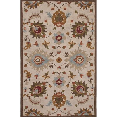 Darlington Wool Ivory/Brown Hand Tufted Area Rug Rug Size: 2 x 3