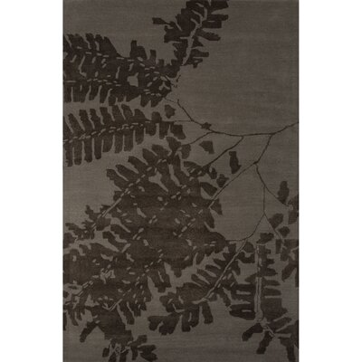 Ascella Wool and Art Silk Gray Hand Tufted Area Rug Rug Size: 5 x 8