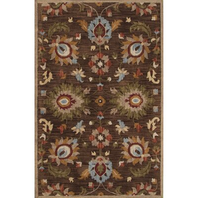 Darlington Wool Hand Tufted Brown/Yellow Area Rug Rug Size: 5 x 8
