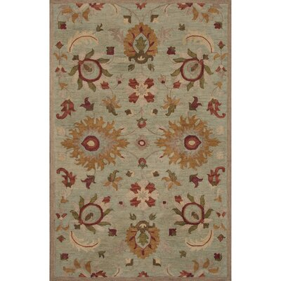 Aukerman Wool Hand Tufted Blue/Taupe Area Rug Rug Size: 5 x 8