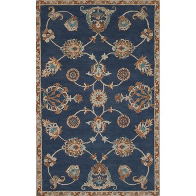 Aukerman Wool Hand Tufted Blue Area Rug Rug Size: Rectangle 2 x 3