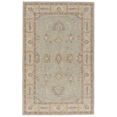 Aukerman Hand-Tufted Eggshell Blue/Moon Beam Area Rug Rug Size: 2 x 3