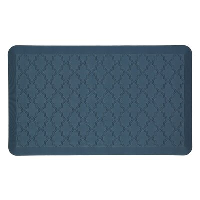 DeMotte Lattice Dri-Pro Comfort Kitchen Mat Color: Blue