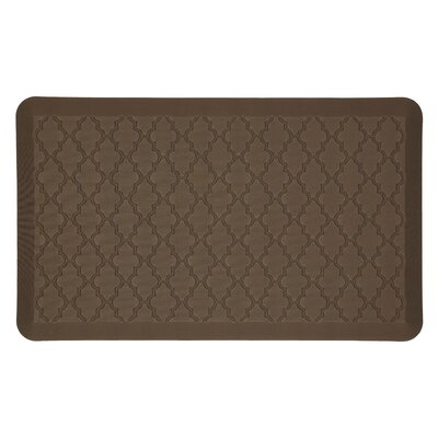 DeMotte Lattice Dri-Pro Comfort Kitchen Mat Color: Brown