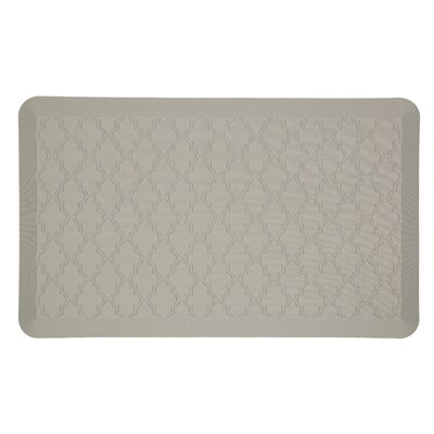 DeMotte Lattice Dri-Pro Comfort Kitchen Mat Color: Gray