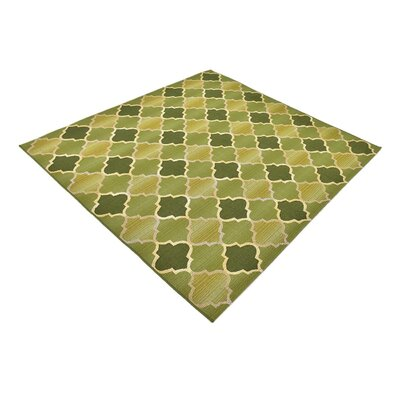 Detroit Green Indoor/Outdoor Area Rug Rug Size: Square 6