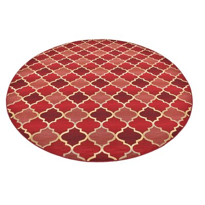 Detroit Red Indoor/Outdoor Area Rug Rug Size: 4 x 6