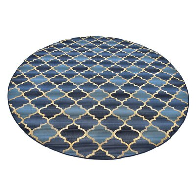 Detroit Blue Indoor/ Outdoor Area Rug Rug Size: 53 x 8