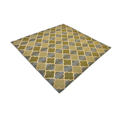 Detroit Beige Indoor/ Outdoor Area Rug Rug Size: Square 6