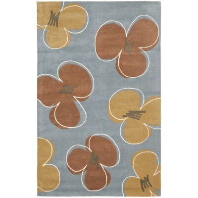 Armstrong  Hand-Tufted Blue Area Rug Rug Size: Square 6